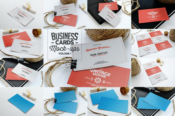 Thumbnail for Business Cards Mock-ups