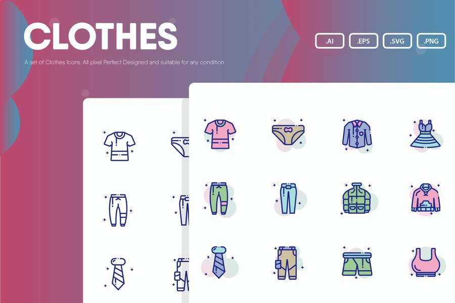 Kleidung Icon Pack