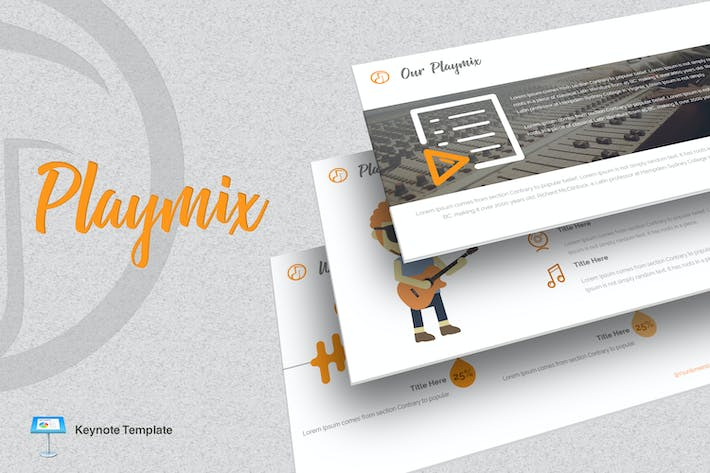 Cover Image For Playmix - Music Keynote Template