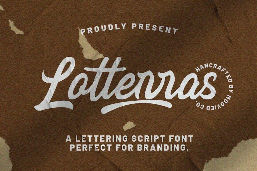 Lotterras Script Brush