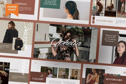 Презентация бренда Ophelia деловой женщины