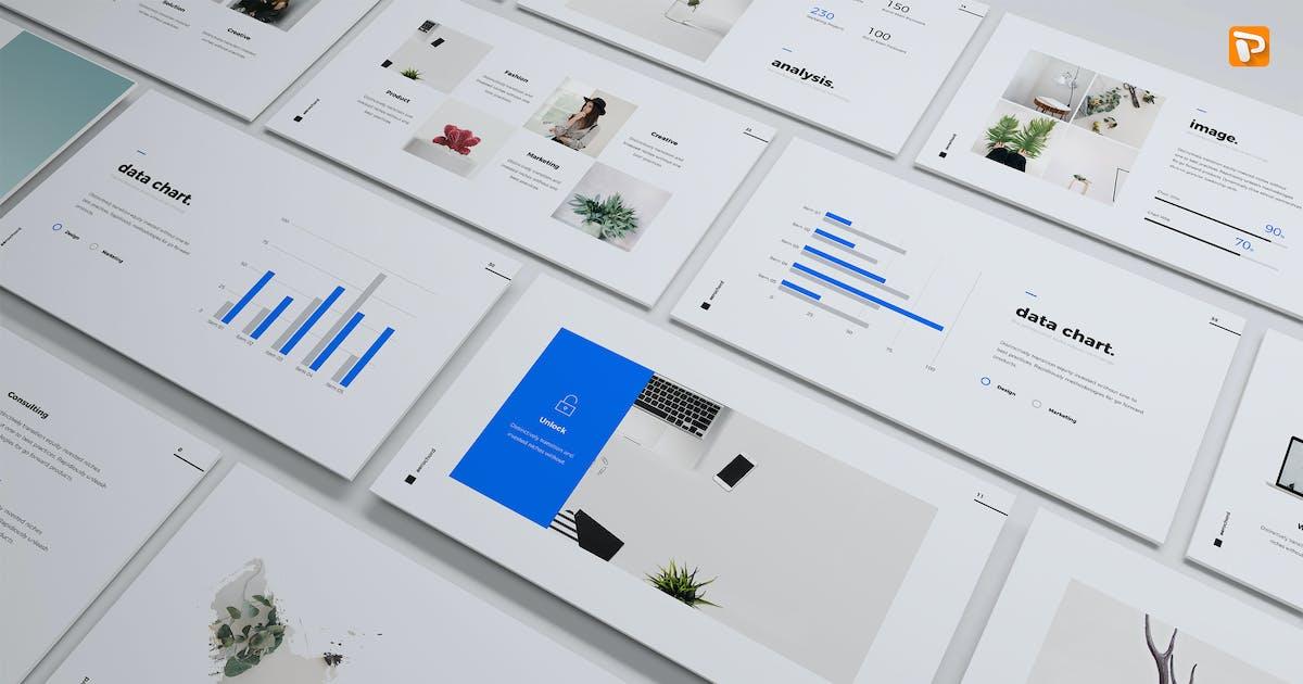 Aerochord - Минимальный и бизнес-Шаблон (PPTX) от SimpleSmart on Envato Elements