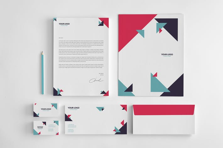 Thumbnail for Business and Corporate Geometric Stationery