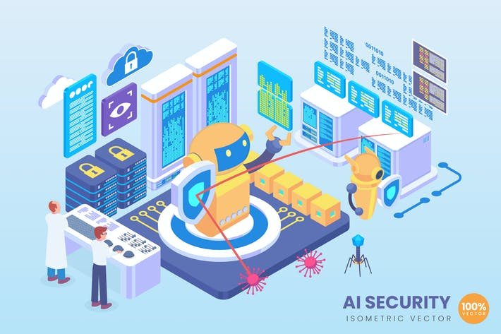 Thumbnail for Isometric AI Security Technology Vector Concept