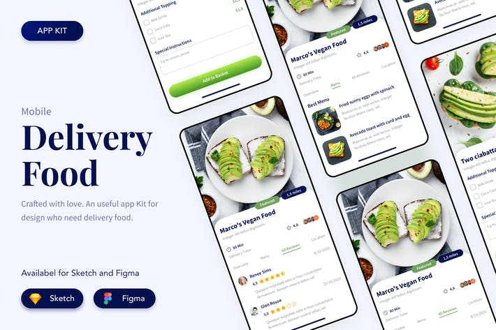 Thumbnail for Food Delivery App User Interface Dashboard