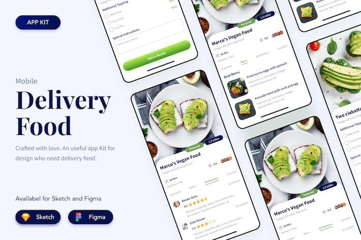 Thumbnail for Панель управления пользовательским интерфейсом Приложение доставки еды