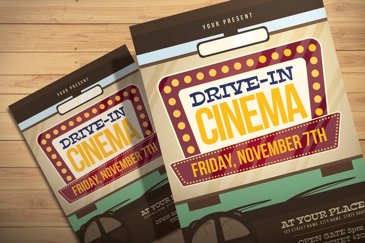 Drive In Cinema - Flyer Template