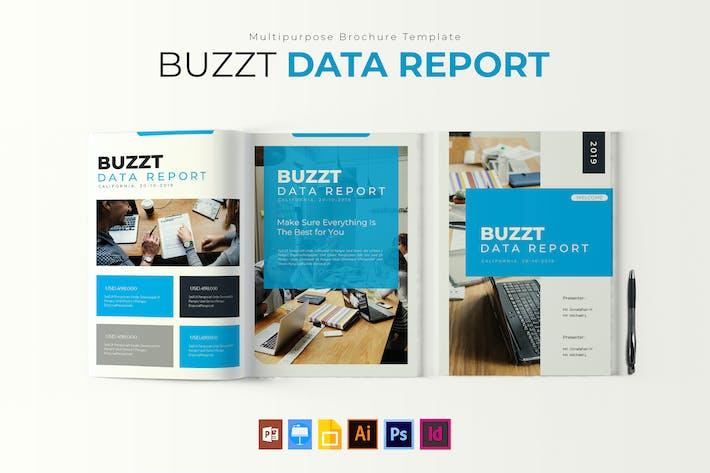 Thumbnail for Buzzt Data Report | Brochure Template