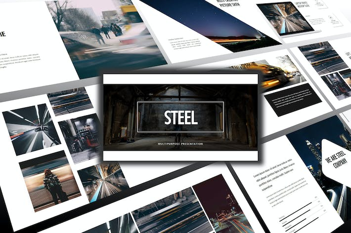 Thumbnail for Steel - Business Powerpoint Template