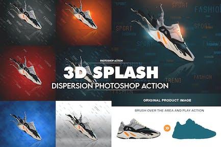 3D Splash Dispersion Photoshop Action