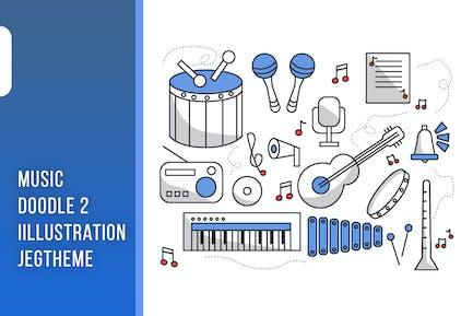 Music doodle Illustration Vol. 02