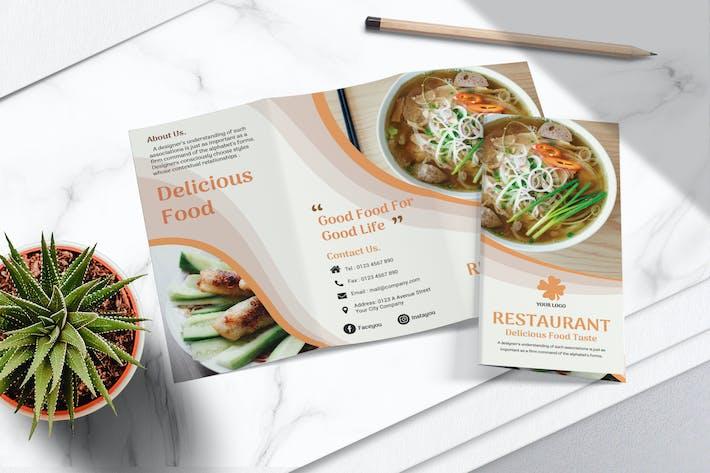 Thumbnail for Food Menu Trifold Brochure Vol.01