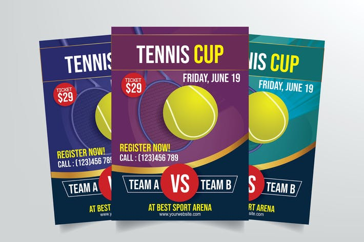 Thumbnail for Tennis Cup Flyer Template