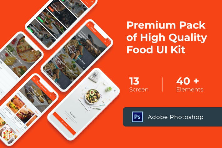 Thumbnail for Food Cooking Recipes UI KIT for Photoshop