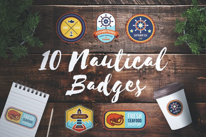 Thumbnail for 10 Nautical Badges