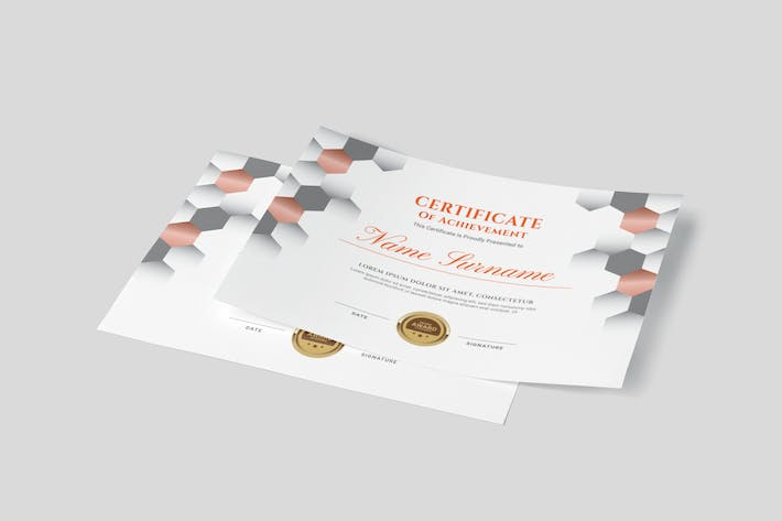 Thumbnail for Hexagon Award Multipurpose Certificates