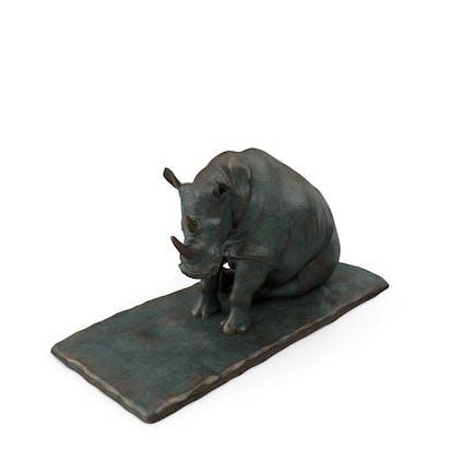 Escultura Rinoceronte sentado