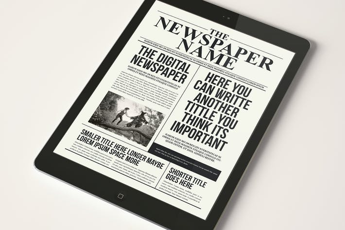 Cover Image For The Digital Newspaper
