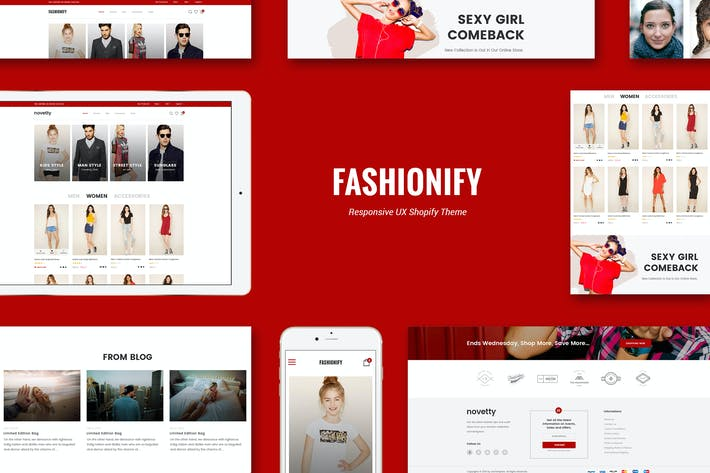 Thumbnail for Fashionify - Responsivo Moda Shopify Tema
