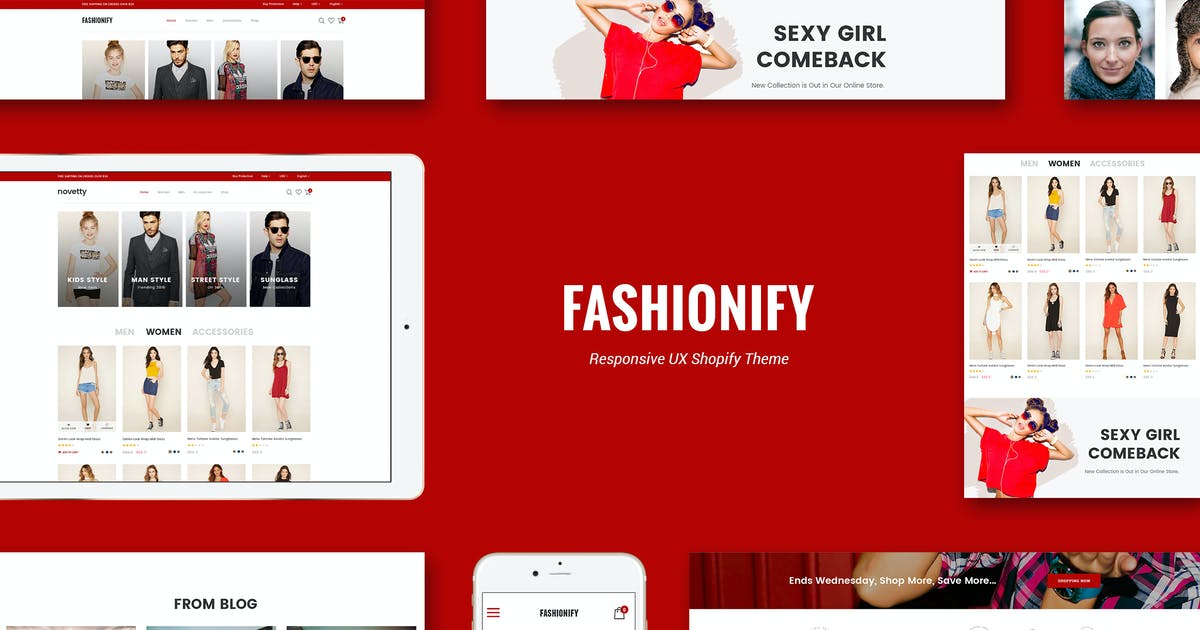 Download Fashionify - Responsive Fashion Shopify Theme by CleverSoft