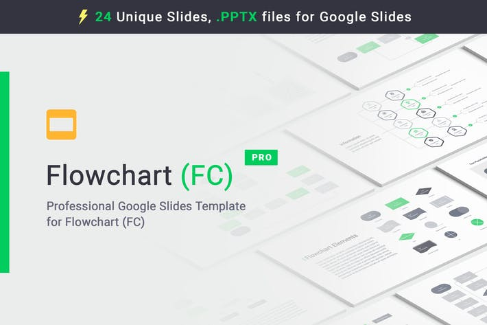 Thumbnail for Flowchart Google Slides Templates