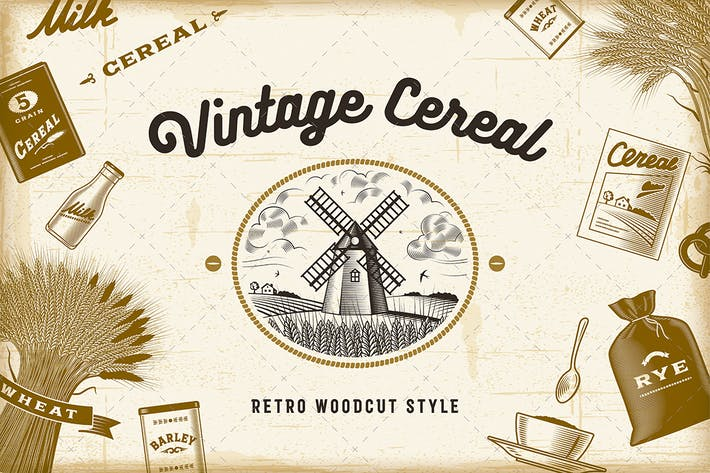 Thumbnail for Vintage Cereal Set