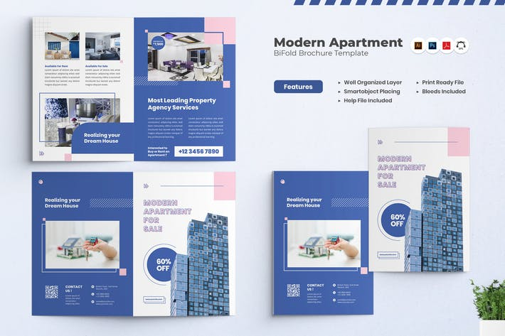 Thumbnail for Brochure Appartement Moderne Bifold