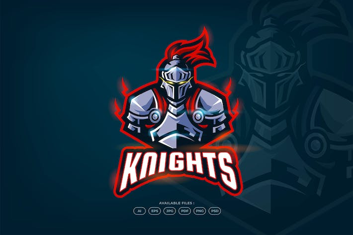 Thumbnail for Knight - Sport and Esport Logo