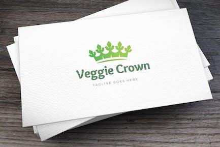 Veggie Crown Logo Template