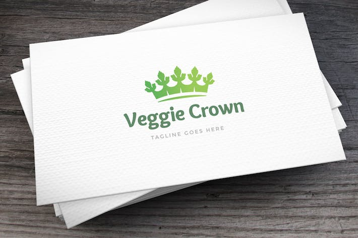 Thumbnail for Veggie Crown Logo Template