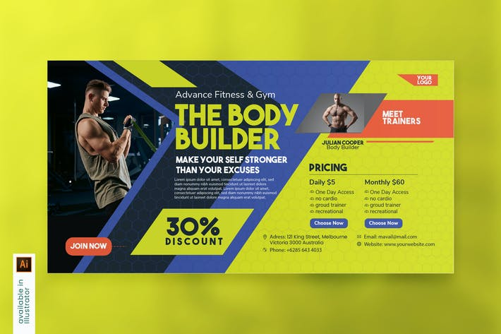 Thumbnail for The Body Builder - Facebook Ads