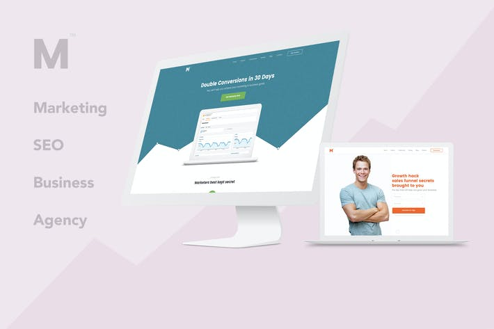 Thumbnail for Marketing – Business, SEO, Agency PSD Template