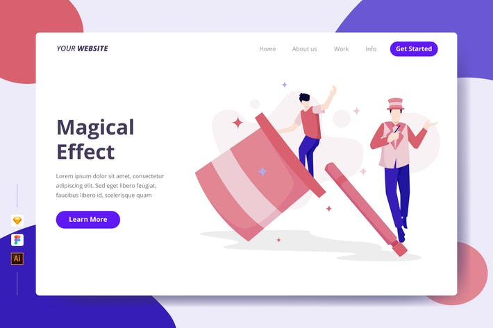 Thumbnail for Magical Effect - Landing Page