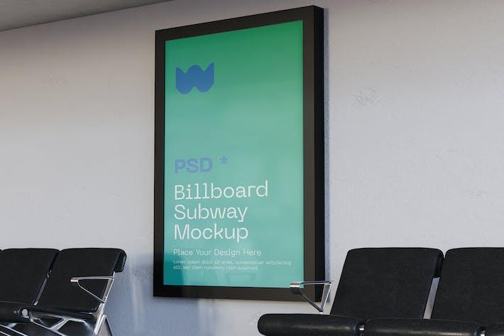 Thumbnail for Subway Advertisement Mockup