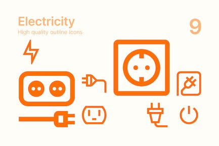 Home Electricity Icons