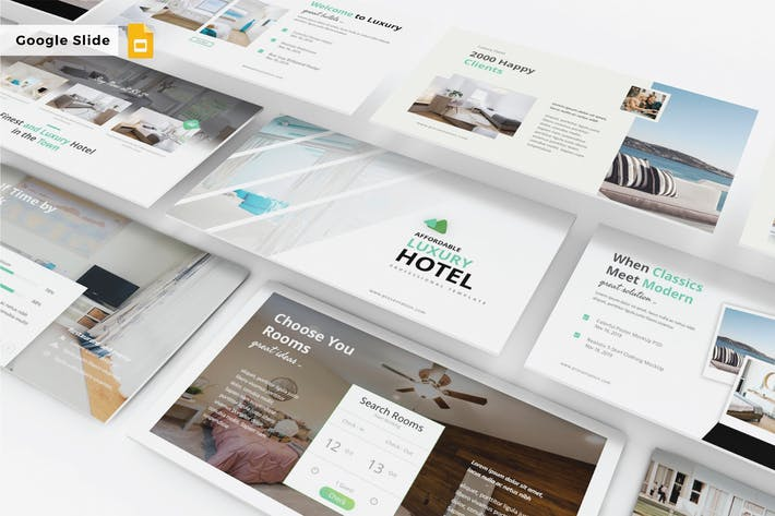 Thumbnail for LUXURY HOTEL - Google Slide V336