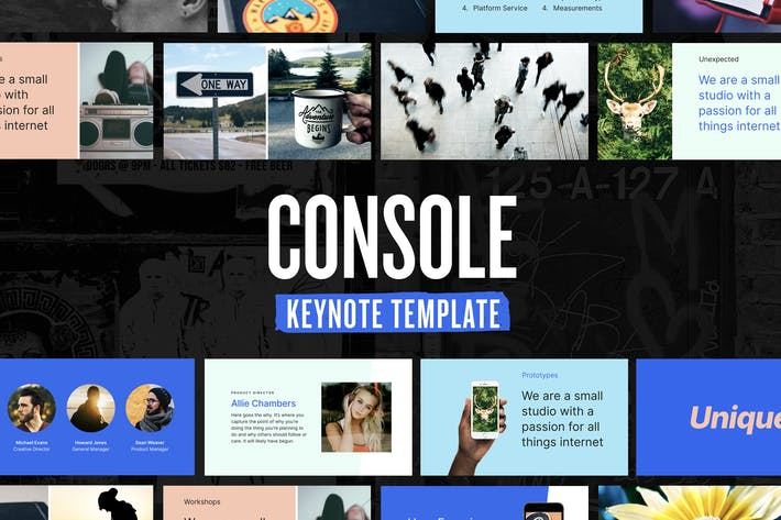 Thumbnail for Console — Keynote Presentation Template