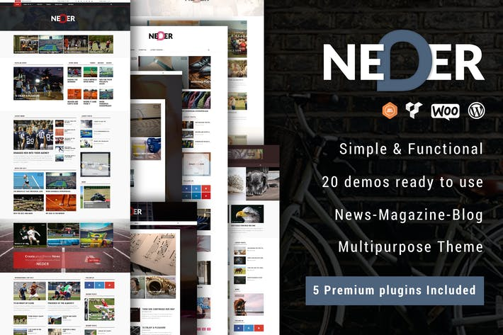 Thumbnail for Neder - WordPress News Magazine and Blog Theme