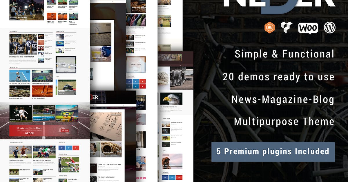 Download Neder - WordPress News Magazine and Blog Theme by ad-theme