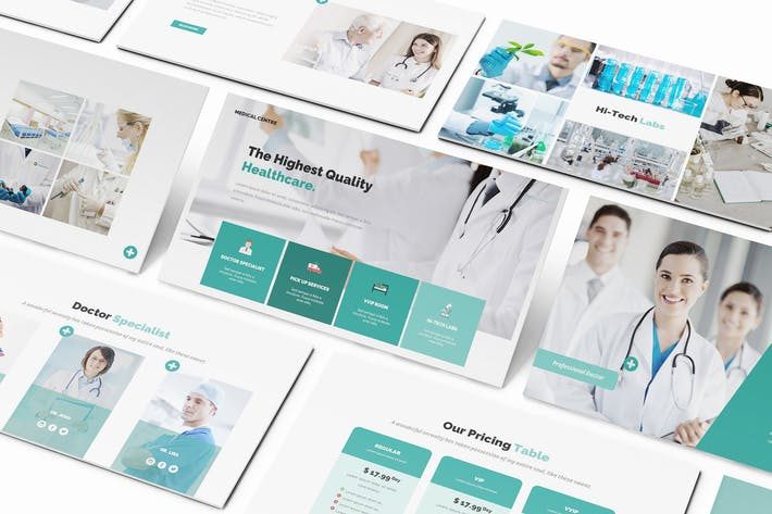 Thumbnail for Medical Centre Keynote Presentation Template