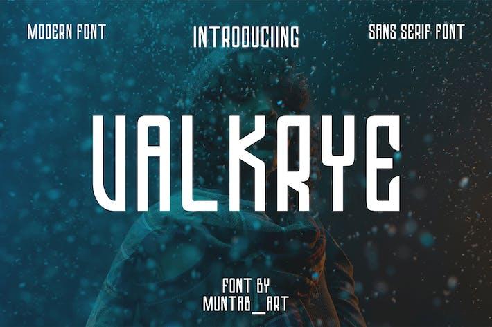 Thumbnail for Valkrye | Modern Font