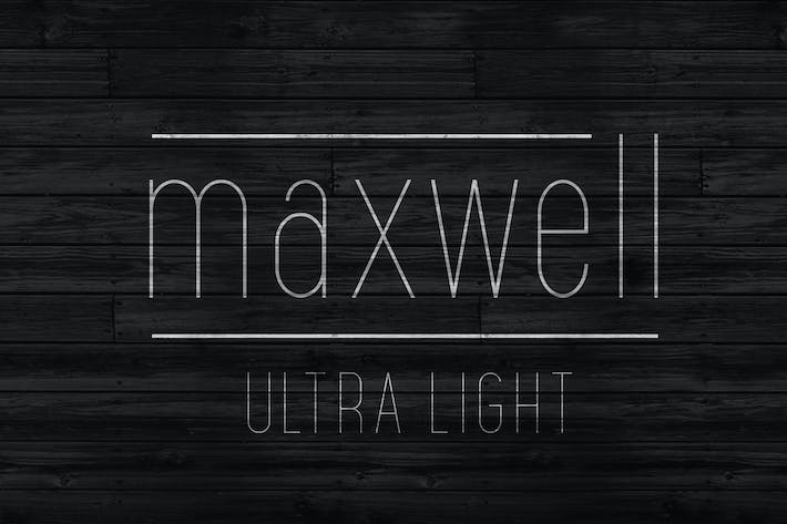 Thumbnail for Maxwell Sans UltraLight