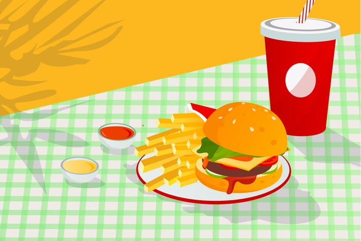 Thumbnail for French Fries Illustration