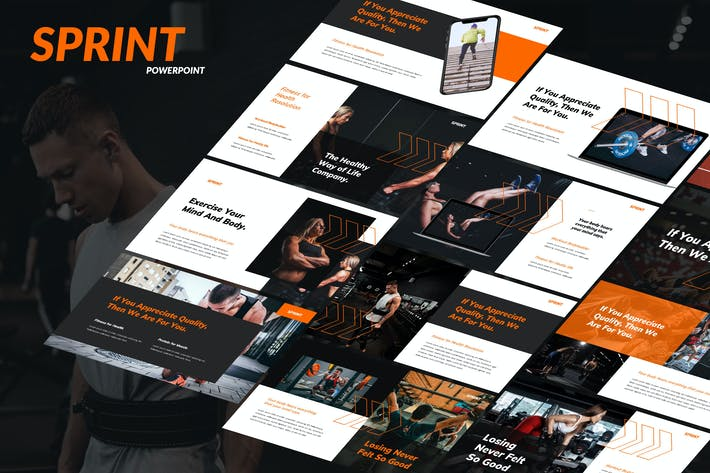 Cover Image For Sprint - Health & Fitness Powerpoint Template