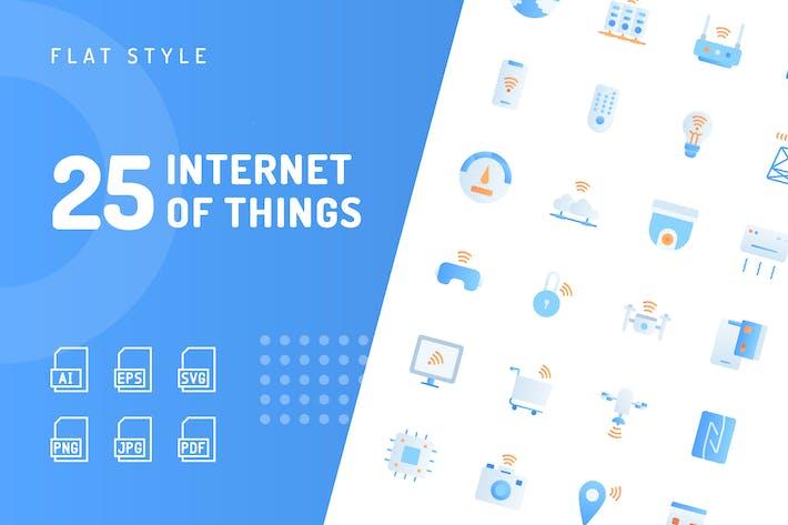 Thumbnail for Íconos planos de Internet de las cosas
