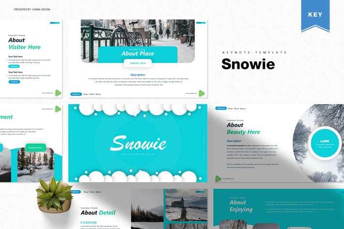 Thumbnail for Snowie | Keynote Template