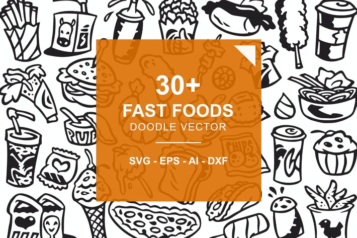 Cover Image For Fast Food Doodles
