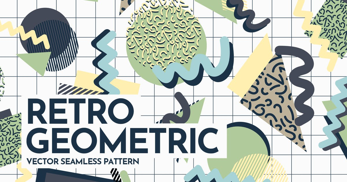 Download Retro Geometric Shapes Seamless Patterns by themefire