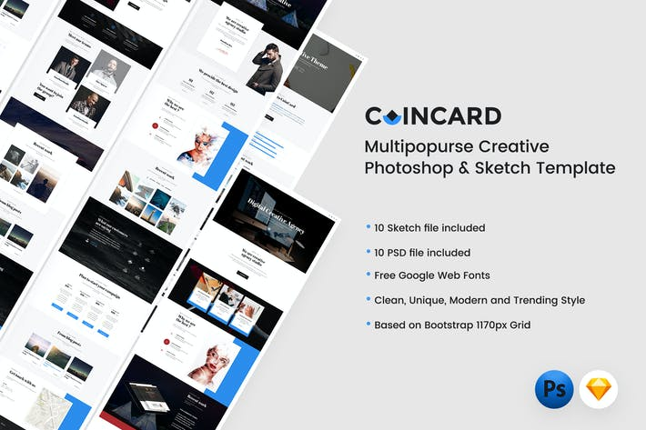 Cover Image For CoinCard - Creative Multipurpose Template