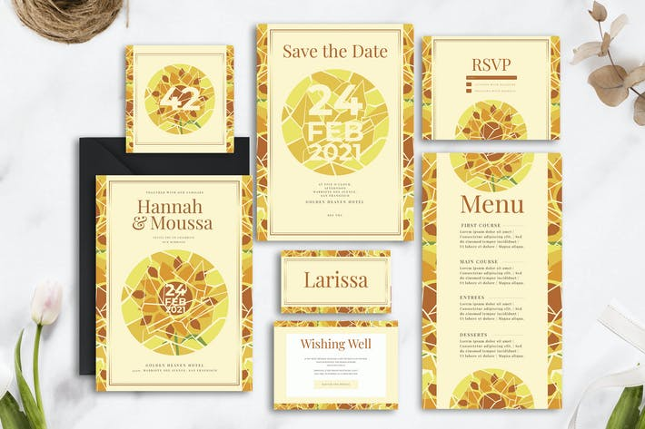 Thumbnail for Decorative Sunflower - Wedding Invitation